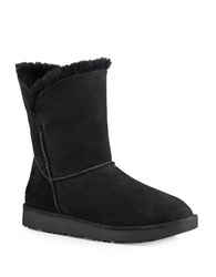 Ugg Classic Cuff Fur Suede Ankle Boots Black