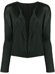 Issey Miyake Pleats Please By Open Front Cardigan Black