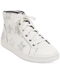 Betsey Johnson Flo Lace Up Sneakers Women's Shoes White
