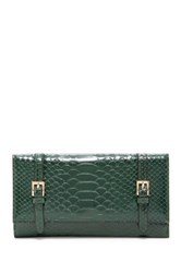 Urban Expressions Michelle Embossed Faux Leather Wallet Green