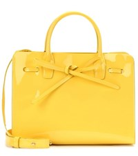 Mansur Gavriel Sun Mini Patent Leather Crossbody Bag Yellow