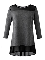 Grace Tunic With Mesh Grey