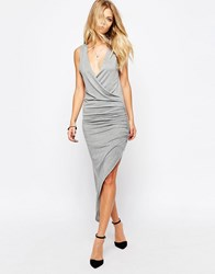 Rock And Religion Jersey Wrap Dress Grey Marl