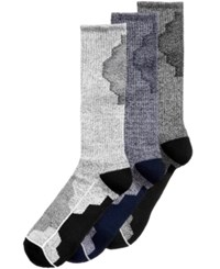 Perry Ellis Men's 3 Pack Colorblocked Performance Casual Socks Navy Assorted