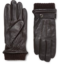 Dents Henley Touchscreen Leather Gloves Brown