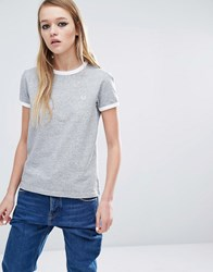 Fred Perry Ringer T Shirt Grey