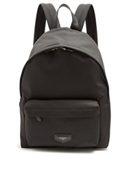 Givenchy Urban Leather Tag Canvas Backpack Black