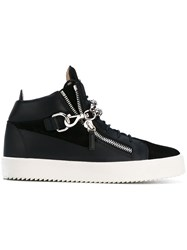 Giuseppe Zanotti Design Michael Chain Hi Top Sneakers Men Leather Rubber 41.5 Black