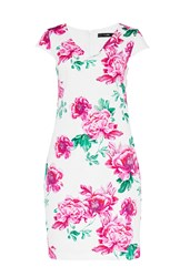 Hallhuber Shift Dress With Floral Print Multi Coloured Multi Coloured