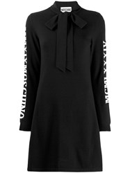 Moschino Bow Neck Knitted Dress Black