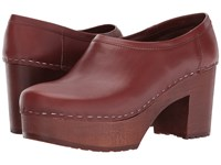 Swedish Hasbeens Bettan Cognac Cognac Women's Clog Shoes Bronze