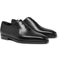 Berluti Alessandro Eclair Whole Cut Leather Oxford Shoes Black