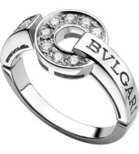 Bulgari Bvlgari Bvlgari 18Ct White Gold And Diamond Ring