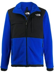 The North Face High Neck Zipped Padded Jacket Blue