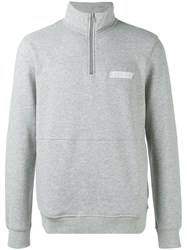 Stussy High Neck Sweatshirt Grey