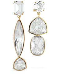 Shourouk Asymmetrical Cascade Crystal Earrings