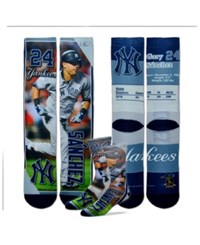 For Bare Feet Gary Sanchez New York Yankees Trading Card Player Crew Socks Navy