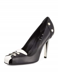 Roger Vivier Leather Studded Oxford Style 100Mm Pump 0001 B001b