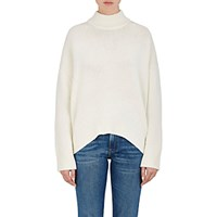 Brock Collection Women's Wool Cashmere Mock Turtleneck Sweater White