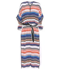 Edun Striped Silk Kaftan Dress Multicoloured