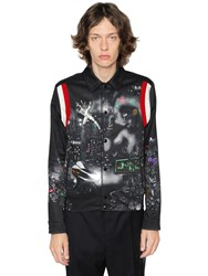 Lanvin Lonely Town Heavy Techno Satin Jacket