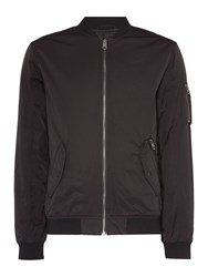 Label Lab Men's Fagan Baseball Neck Bomber Jacket Black