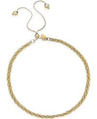 Macy's Twisted Rope Adjustable Friendship Bracelet In 14K Gold