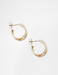 Monki Danielle Twist Hoop Earring Gold