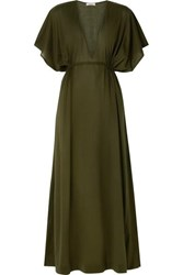 Eres Paule Cotton Jersey Maxi Dress Army Green
