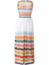Missoni Zig Zag Strapless Beach Dress Metallic