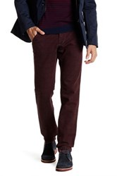 Ganesh Glen Plaid Slim Fit Pant Red