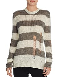 Signorelli Stripe Sweater Heather Grey Vanilla