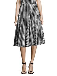 Saks Fifth Avenue Gingham Print Maxi Skirt Black White