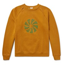 Levi's Vintage Clothing 1960S Distressed Printed Fleece Back Cotton Jersey Sweatshirt Saffron