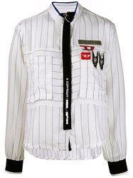 Diesel Shirt With Strap Detail White
