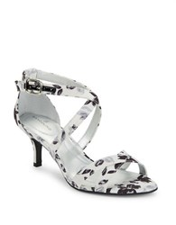 Bandolino Nakayla Printed Dress Sandals Black