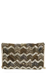 Sole Society Mona Beaded Flap Clutch