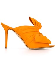 Charlotte Olympia 'Ilona' Mules Yellow And Orange