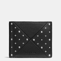 Coach 3 In 1 Wallet In Bandana Patchwork Leather Black