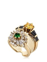 Iosselliani Anubian Stacked Ring