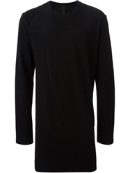 Forme D'expression Panelled Long Sweater Black