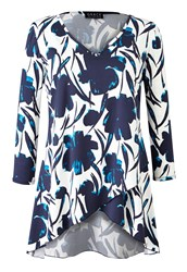 Grace Made In Britain Tunic Top Blue