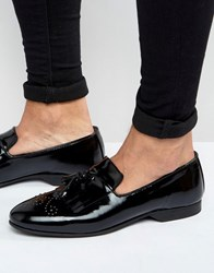 House Of Hounds Regal Patent Loafers Black