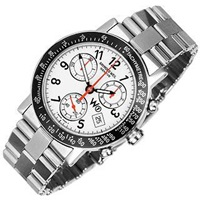 Raymond Weil W1 White Stainless Steel Chronograph Watch W Tachymetre Silver