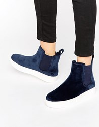 Monki Clean Ankle Boot Blue