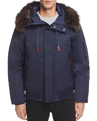 Andrew Marc New York Alpine Hooded Bomber Jacket Ink