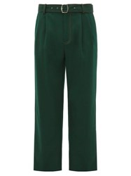 Sies Marjan Andy Belted High Rise Twill Trousers Green