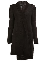Lost And Found Ria Dunn Mesh Knit Cardi Coat Black