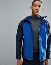 Jack Wolfskin Zenon Softshell Jacket In Royal Blue 1505 Royal Blue