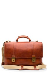 Bosca 'S Dolce Leather Briefcase Brown Amber